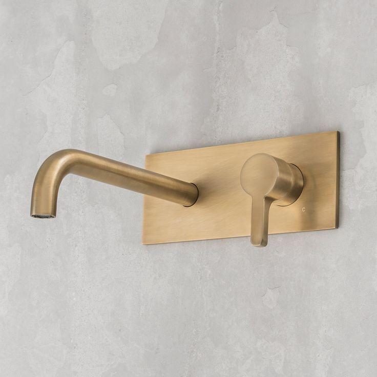 Rogerseller Arq Wall Mixer & 250mm Outlet Burnished Brass - Rogerseller