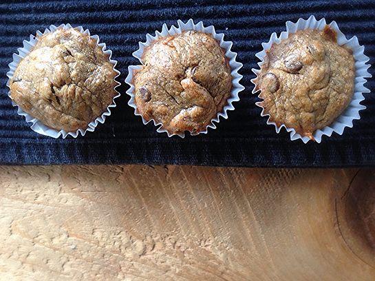 Rachelle et Coco | Muffins beurre d'arachide et banane sans farine