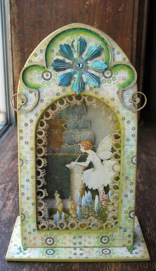 Altered Altoid tin. Inspired by Ida Rentoul Outhwaite fairy illustrations.  Made by L. Mahaffey