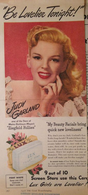Judy Garland Lux soap ad