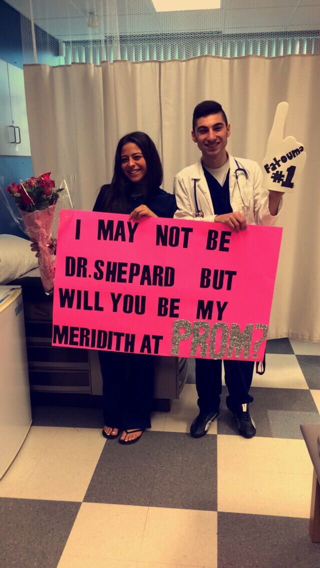 Promposal the Greys Anatomy way                                                                                                                                                                                 More