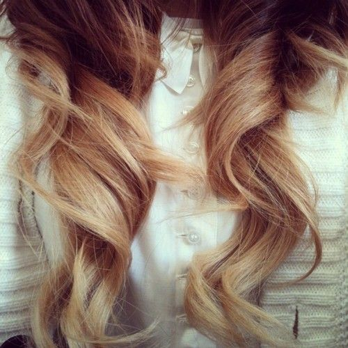 ombre: Big Curls, Hair Colors, Ombre Hair, Long Hair, Longhair, Girls Hairstyles, Perfect Curls, Soft Curls, Curly Hair