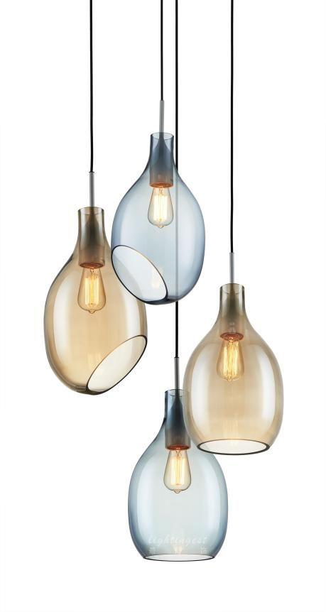 Postmodern Nordic fashion contracted droplight【最灯饰】现代后现代北欧时尚简约新款设计师样板房餐厅玻璃吊灯