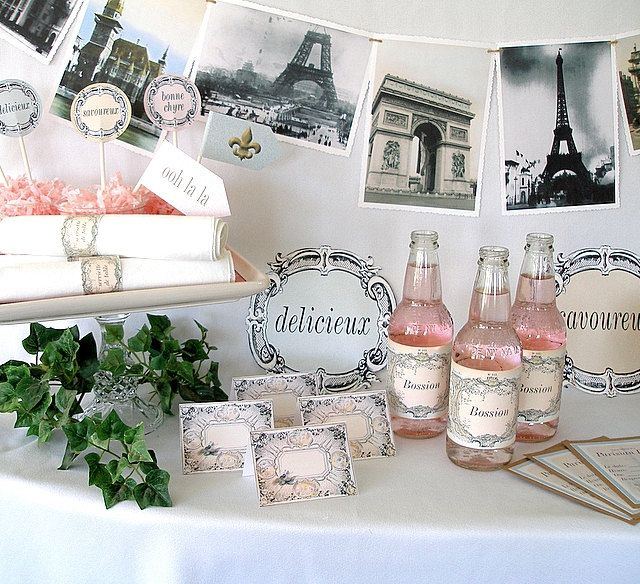 Printable French Parisian Party Kit. $15.00, via Etsy.