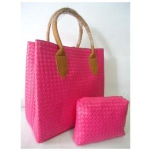 tas webe anyam pink - AyeshaShop.Com