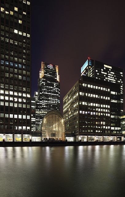 Canary Wharf, London - where the TM-Tech office is located