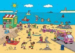Praatplaat Het strand/zomer - Site met mega veel praatplaten en clipart (Free)