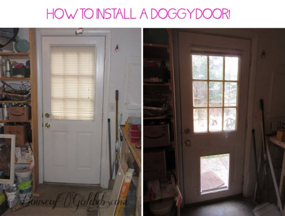 How to Install a Doggy Door in a day!