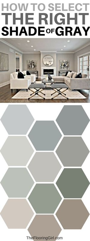 How to pick the right shade of gray paint.  And, how to pick a coordinating accent wall.  #gray #paint #homedecor #shades #colors TheFlooringGirl.com