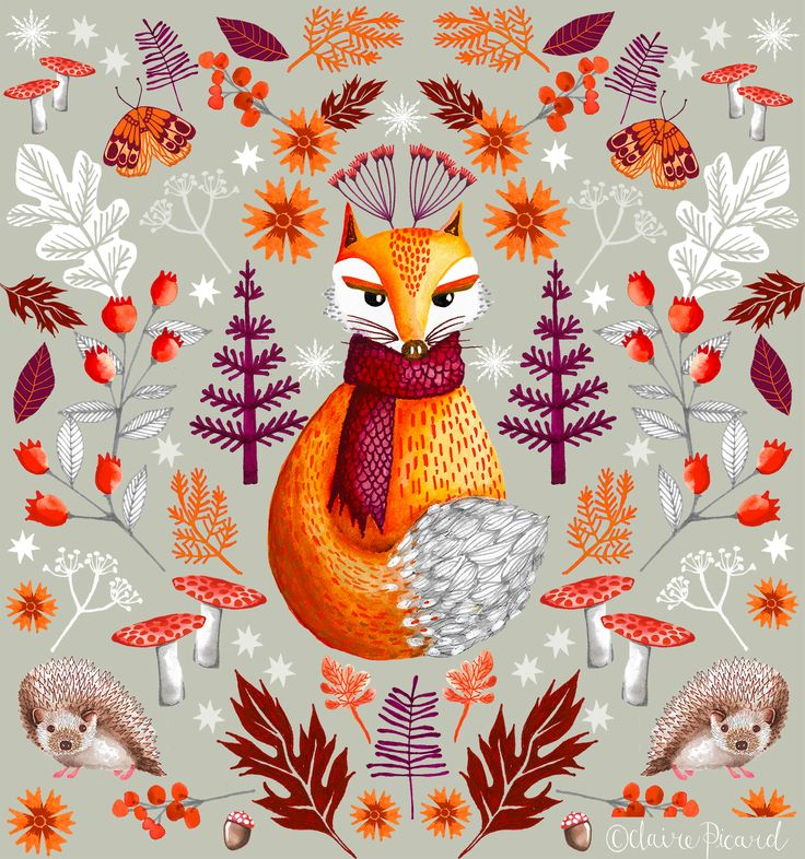 Forest Fox by Claire Picard www.clairepicarddesigns.com