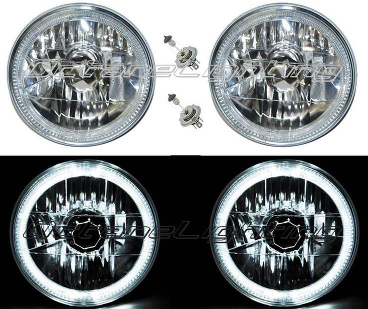 New Nice Great Halogen H Headlight Headlamp White LED Halo Angel Eyes Light Bulbs