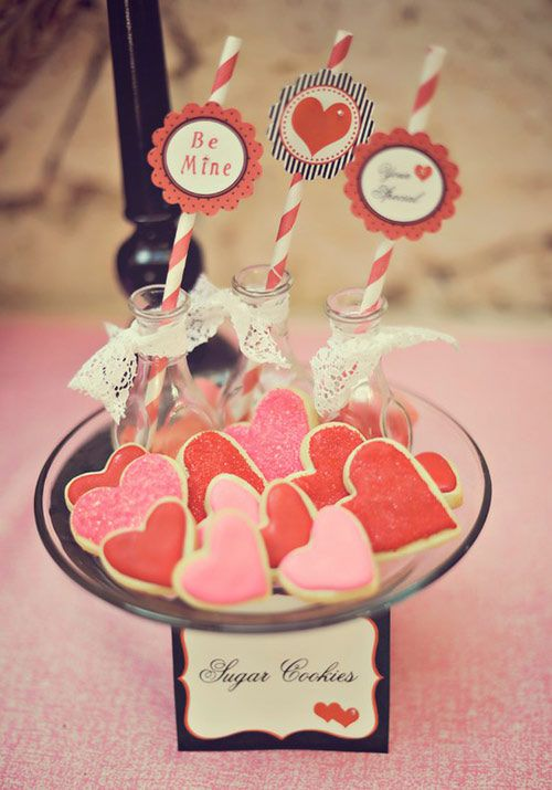 Adorable valentine sugar cookies