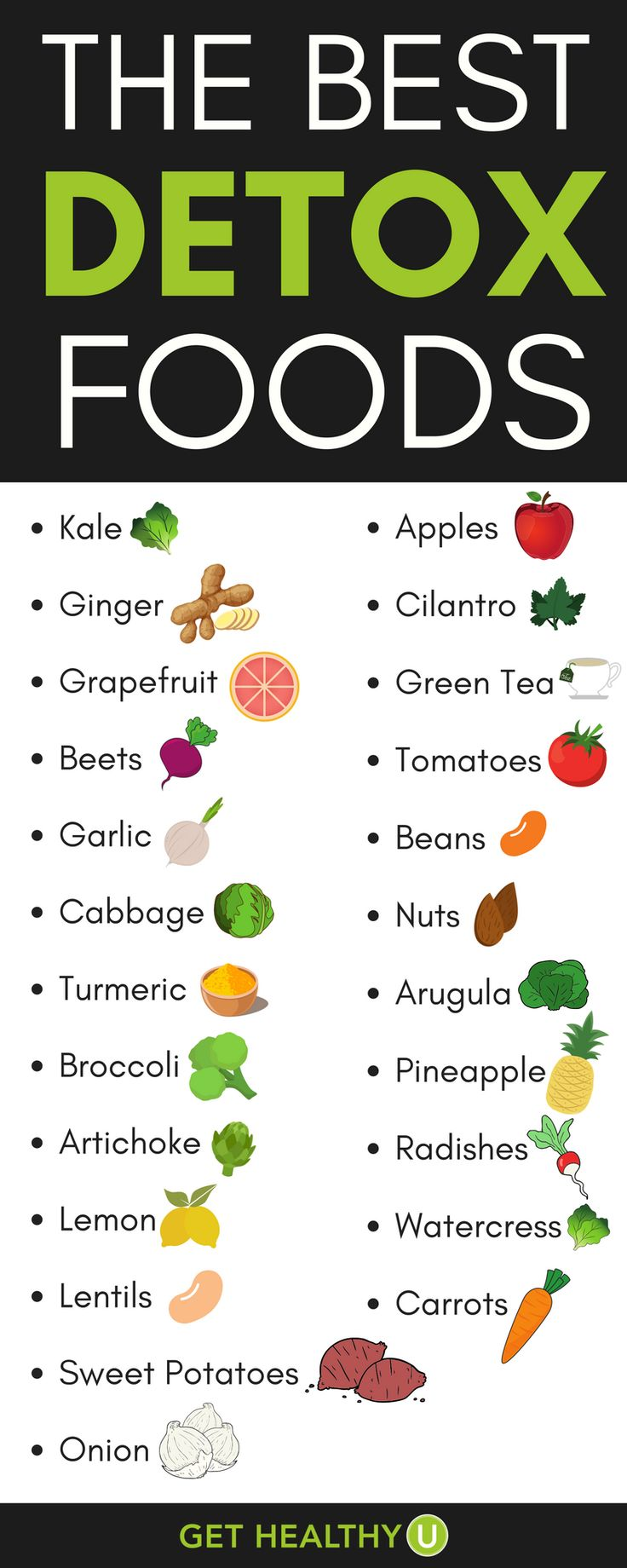 Don't fall for the pills and potions; check out the best foods to naturally detoxify your body and delicious recipes to incorporate them! #BodyDetoxFoods