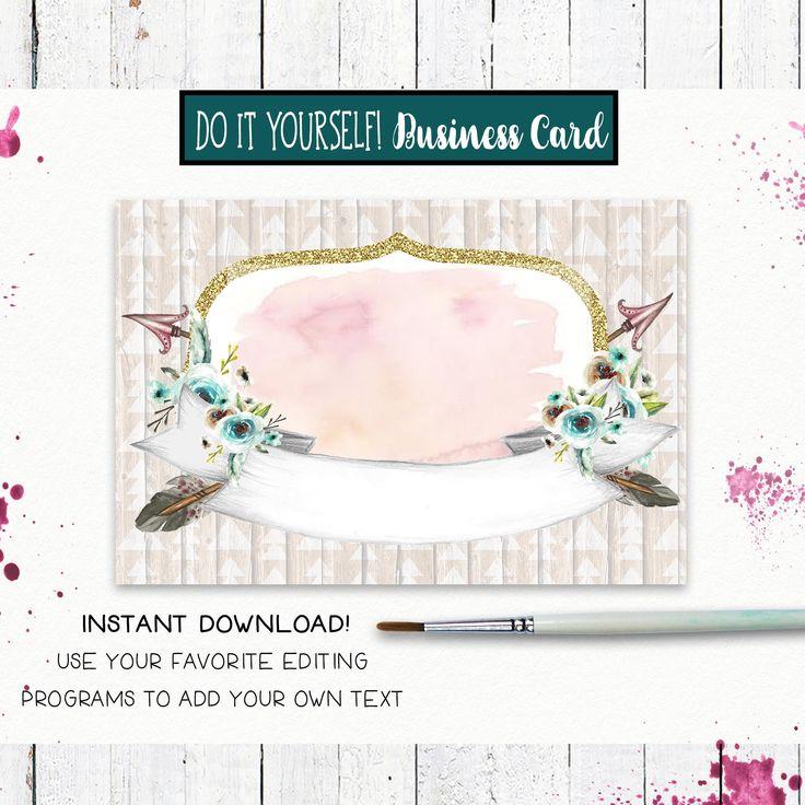 The 25 best blank business cards ideas on pinterest diy straw diy blank business card template tribal arrow floral solutioingenieria Choice Image