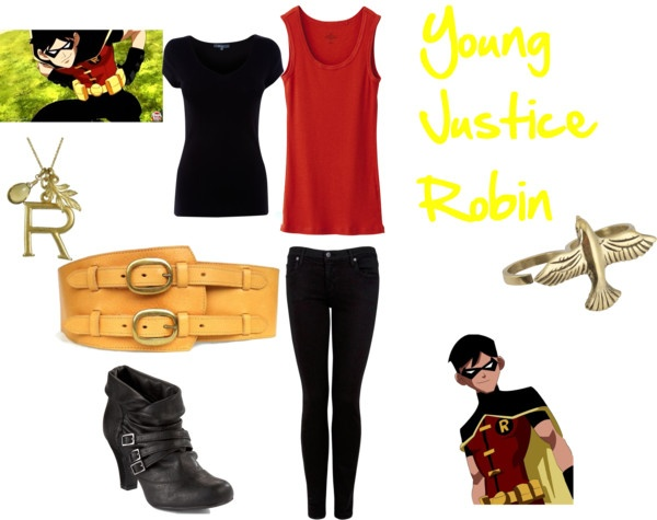 """""""Young Justice Robin"""" by crazyprncss ❤ liked on Polyvore"""