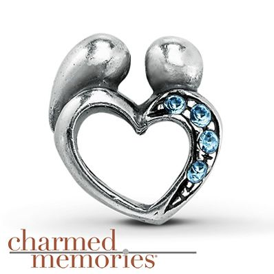Charmed Memories Light Blue Heart Charm Sterling Silver v71yI