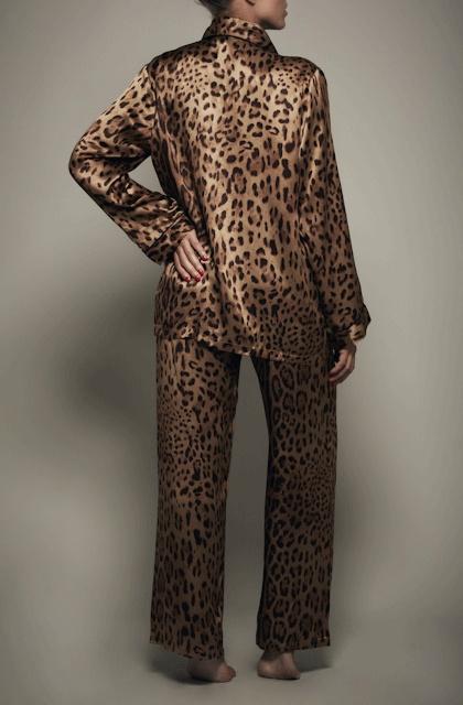 leopard print silk pyjamas - Kisskill lingerie | KISSKILL ...