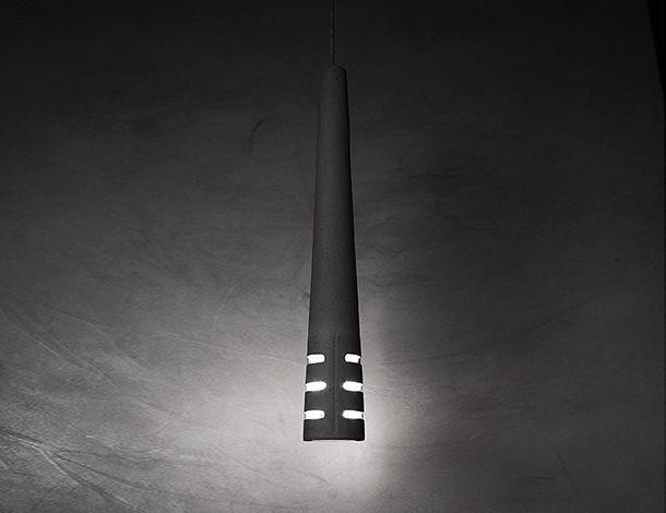 URBI et ORBI  Ignis ver concrete lamp D 8cm H 59 cm E27 max eco 70W designed by urbi et orbi 2015