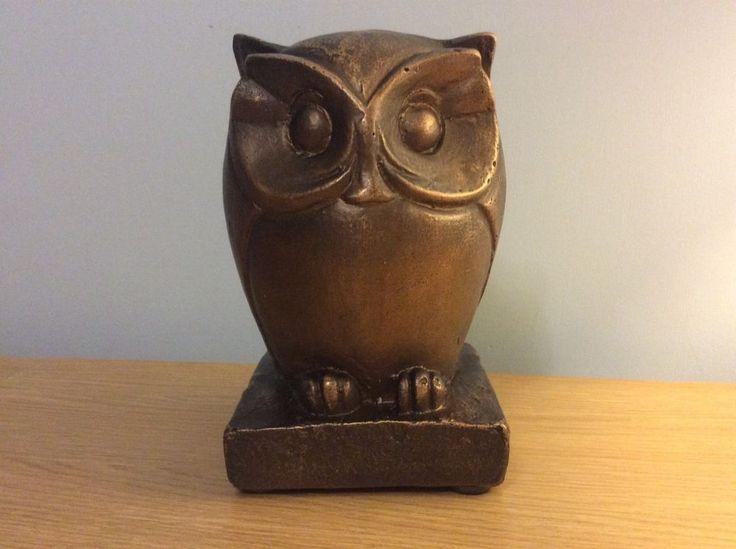 Beautiful Large Ceramic Brown Owl Decorative Ornament NEW    eBay