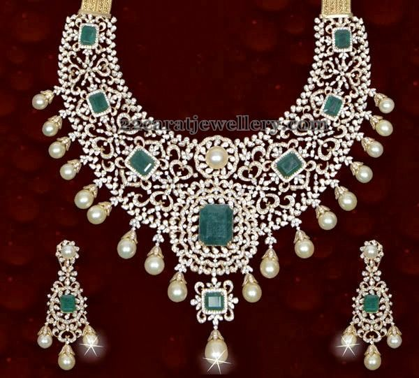 Jewellery Designs: Royal Jewelry with Square Shaped Emeralds