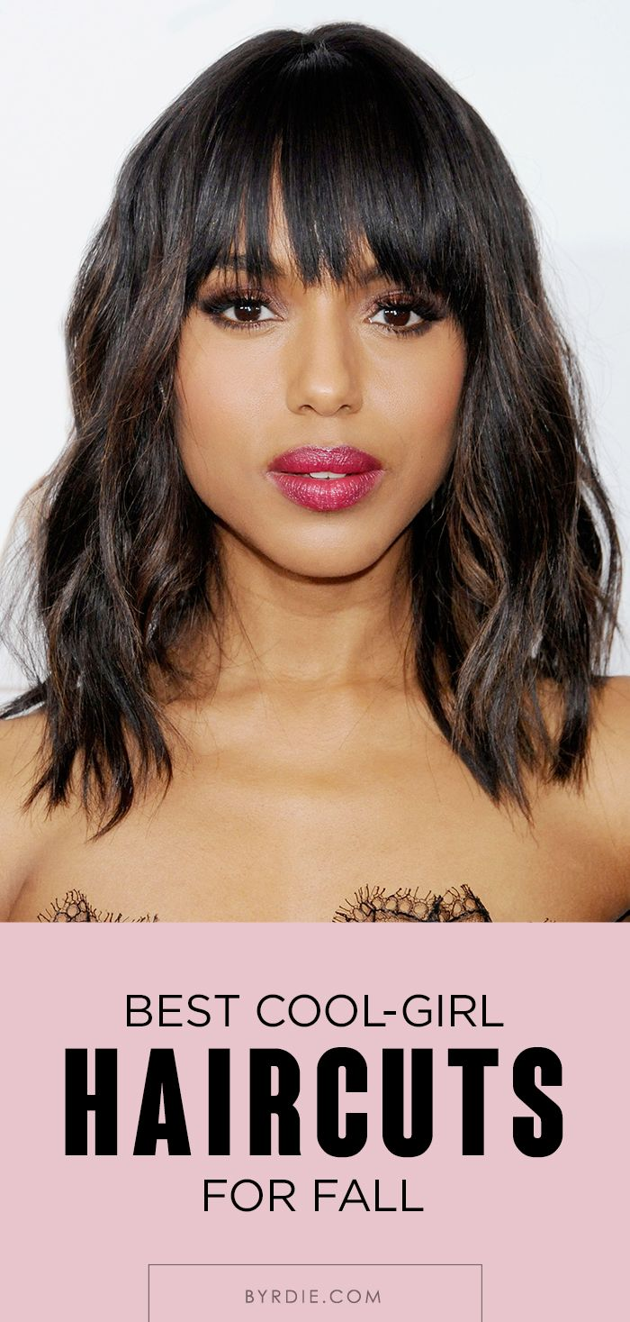 Bangs, feathery layers, lobs, and more awesome hairstyles to try this fall. // #hair