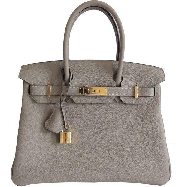 d19a141723 Hermes Gris Tourterelle Birkin Bag 30cm Togo Gold Hardware