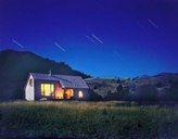 Thomas Blurock, Montana cabin, night