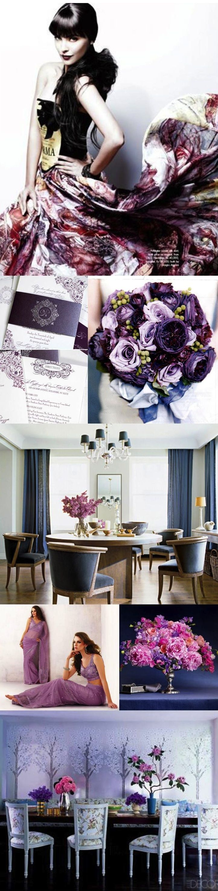 purple table settings – Loris Decoration