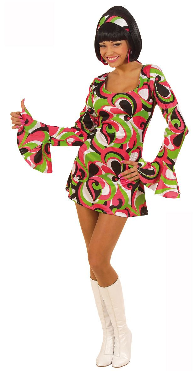De leukste retro producten voor themafeesten kunt u vinden op Vegaoo.nl! Beste snel dit leuke disco jurkje voor vrouwen tegen een lage prijs!