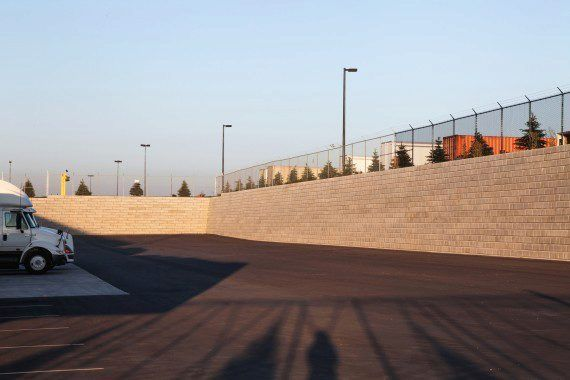 Unilock - Home Depot with DuraHold wall in Ontario