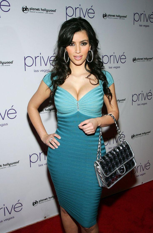 blue dress kim kardashian | Looks - Dresses - Evening - Short ...