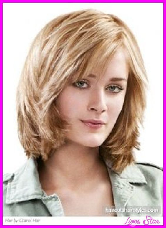 nice Medium layered haircuts for thick hair and round faces Round layers haircut