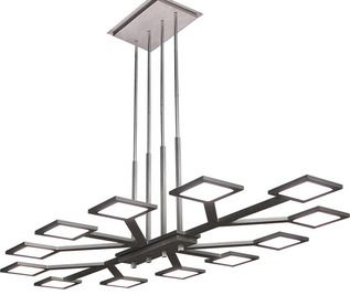 Manufacturer: Wac Lighting | Item: Vela OLED LED Chandelier | Finish: Aluminum | Quantity: 1