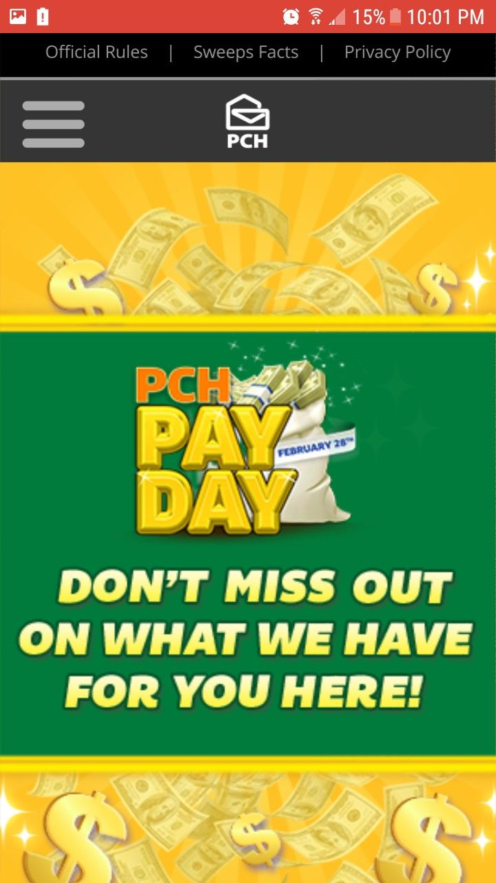 PCH PAY DAY I LaShondra Gibson Claim My Ownership To Win $20,000 00