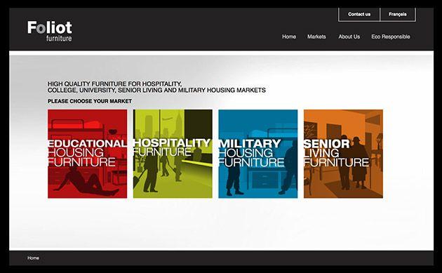 conception du site web de Foliot Furniture