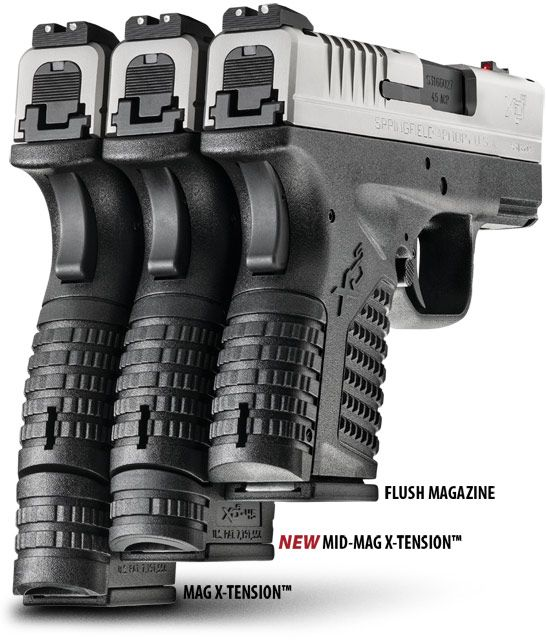 Get the XD-S Mid-Mag with X-Tension™ to increase the capacity of your XD-S handgun without any decrease in comfort or concealability. Learn more here.
