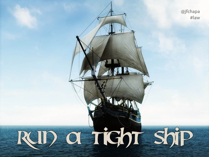 Run A Tight Ship 57