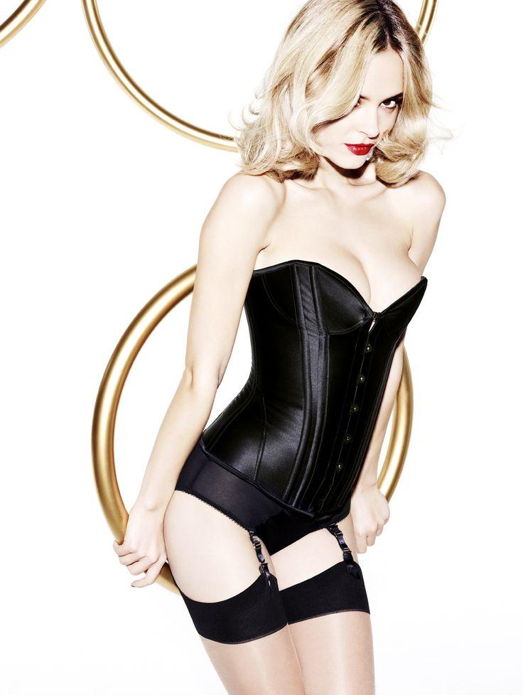 Penelope corset and high-waist suspender briefs