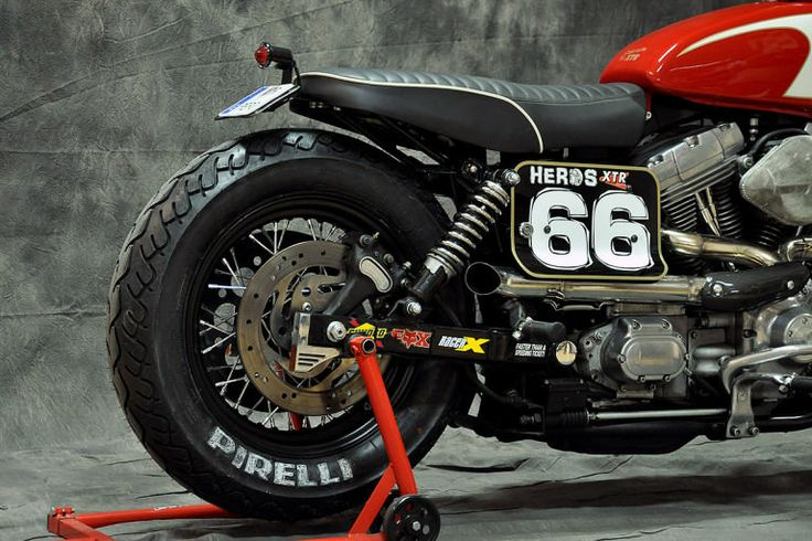 Meet Gabrielle, a Harley Dyna custom with a street tracker attitude.