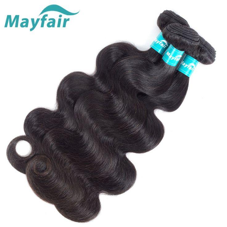 Mayfair 3 bundles Brazilian Body Wave Bundles 100% Human Hair Weave Weft Remy Hair Extension deal Double Machine Weft