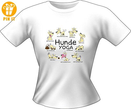 Hunde Sprüche - Yoga - Fun Lady T-Shirt 100% Baumwolle - Größe M - T-Shirts mit Spruch | Lustige und coole T-Shirts | Funny T-Shirts (*Partner-Link)
