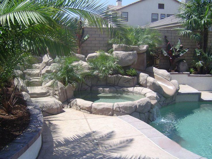 Tropical backyard tiki paradise in Corona, California. By ...