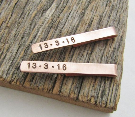 Copper Skinny Tie Clip Usher Tie Clip Junior by CandTCustomLures
