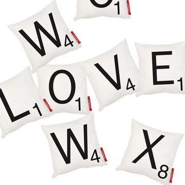 Wild & Wolf Scrabble  Iconic Letter Pillows