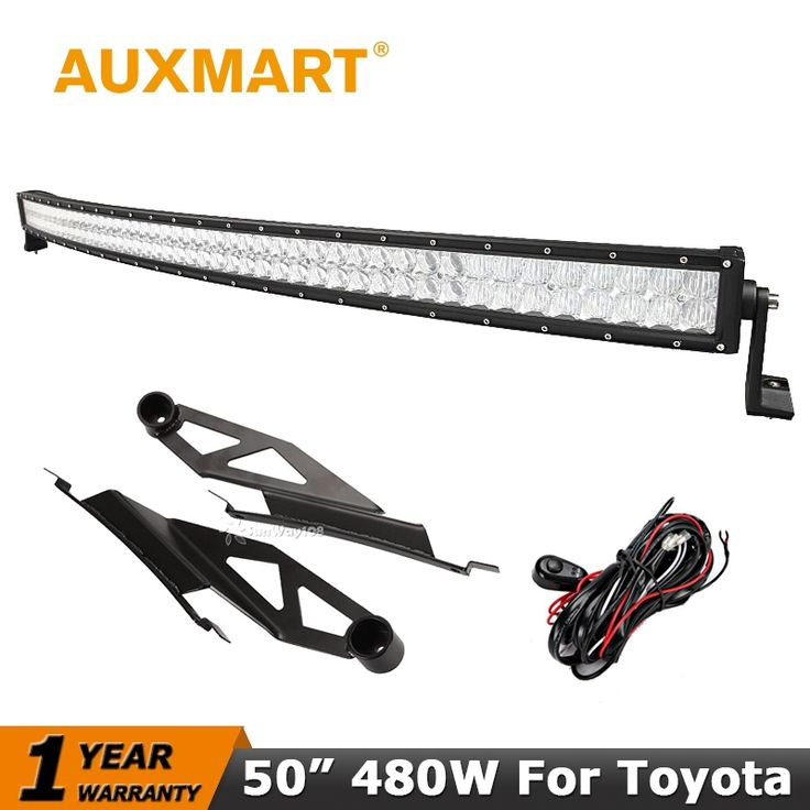 212.46$  Buy now - http://alitgy.worldwells.pw/go.php?t=32635425137 - Auxmart 50 inch Curved LED Light Bar 480W CREE Chips 5D Offroad Driving Light Mount Bracket For Toyota Tundra  2007~2014