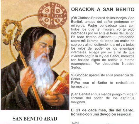Lee todo el escrito de San Benito, oracion y medalla , úsalo cada vez que necesites protección contra el mal, lleva tu oración y tu medalla encima, ponla en casa y oficina para estar siempre…