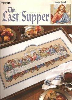 ultima cena en punto de cruz