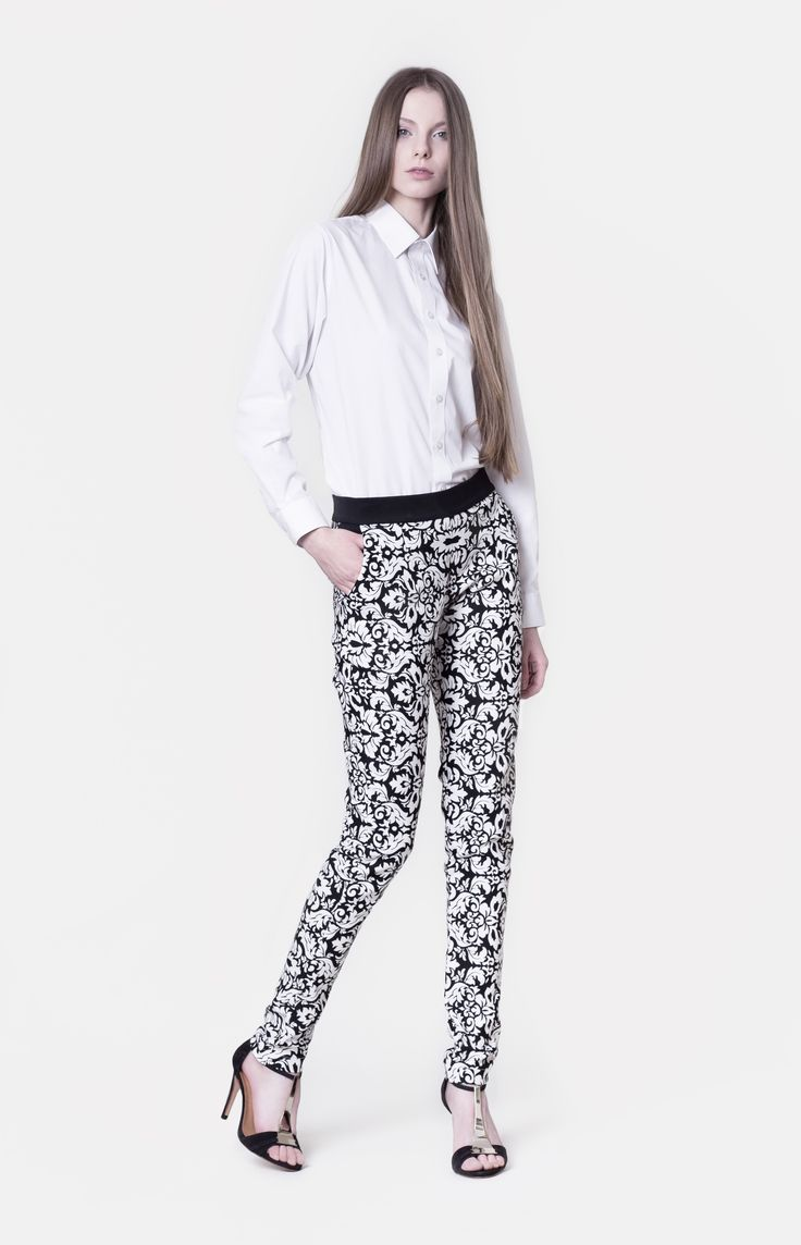 Cocoon Spring - Summer 2014 / Non collection / White Shirt & Pants with baroque print.