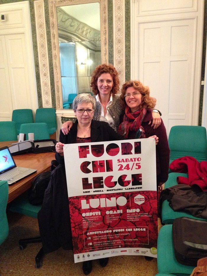 Le organizzatrici di #FuoriChiLegge - #LUINO 24.05.2014 ( conferenza stampa in Provincia a #Varese )