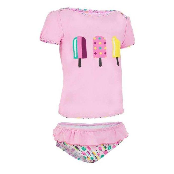 maillot de bain fille Decathlon 0-2 ans tissu anti-UV pour proteger la peau